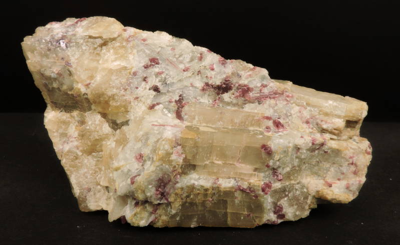 Elbaite and spodumene from Finland - large cabinet size