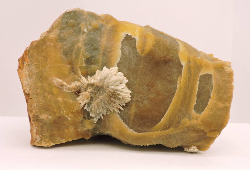 Baryte / barite on calcite septaria from Warden Point, UK - fluorescent-  large cabinet size