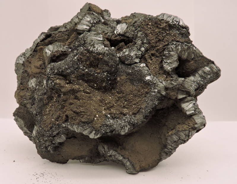 Pyrolusite from Morocco - cabinet size