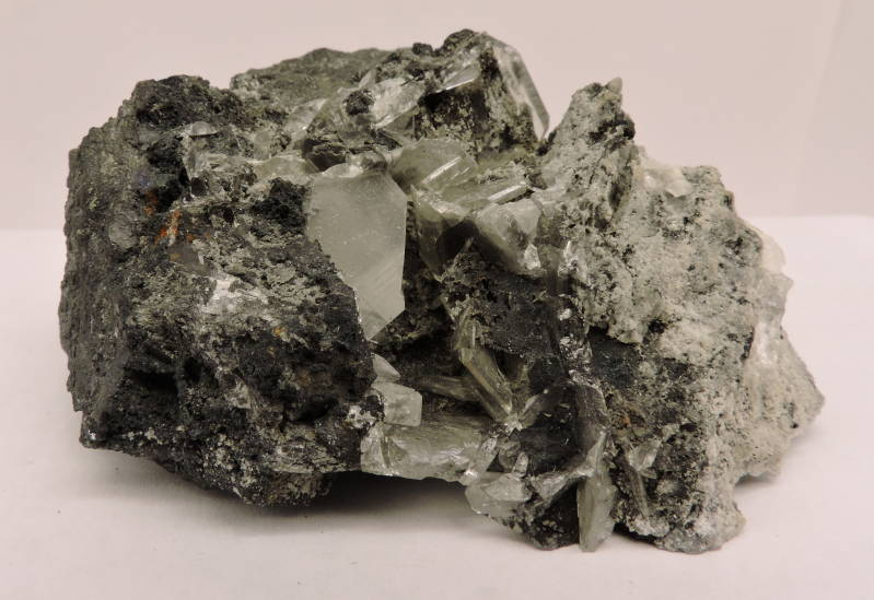 Cerussite and tennantite from Namibia - cabinet size