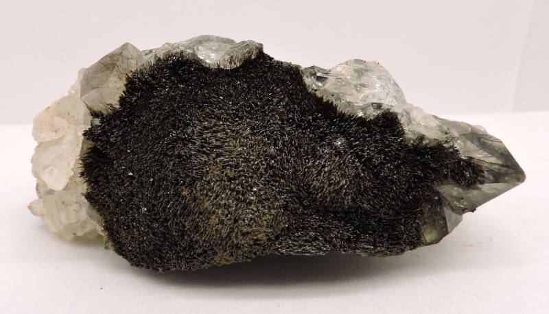 RESERVED Goethite needles in and on quartz from Morocco - cabinet size