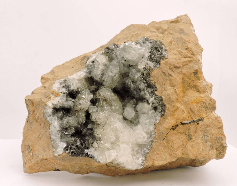 Calcite in matrix from Germany - large cabinet size