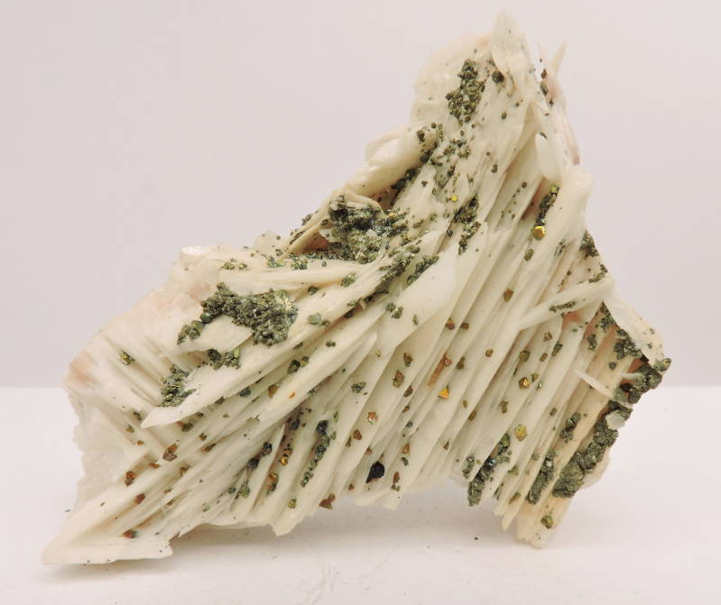 Baryte / barite with pyrite and chalcopyrite from Germany - cabinet size