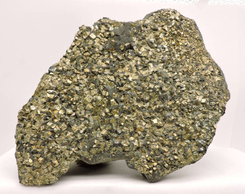 Pyrite on matrix from Germany - large cabinet size