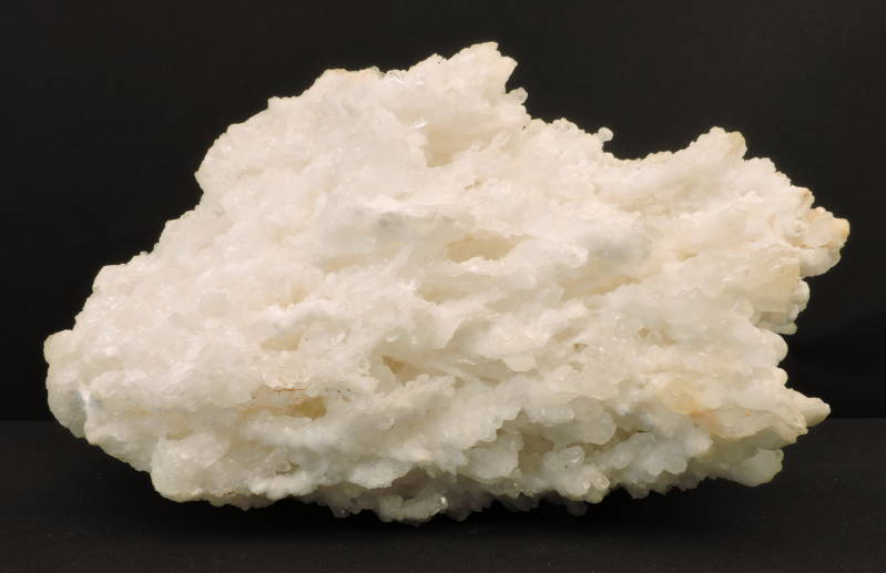 Snow white aragonite with calcite from Greece - large cabinet size