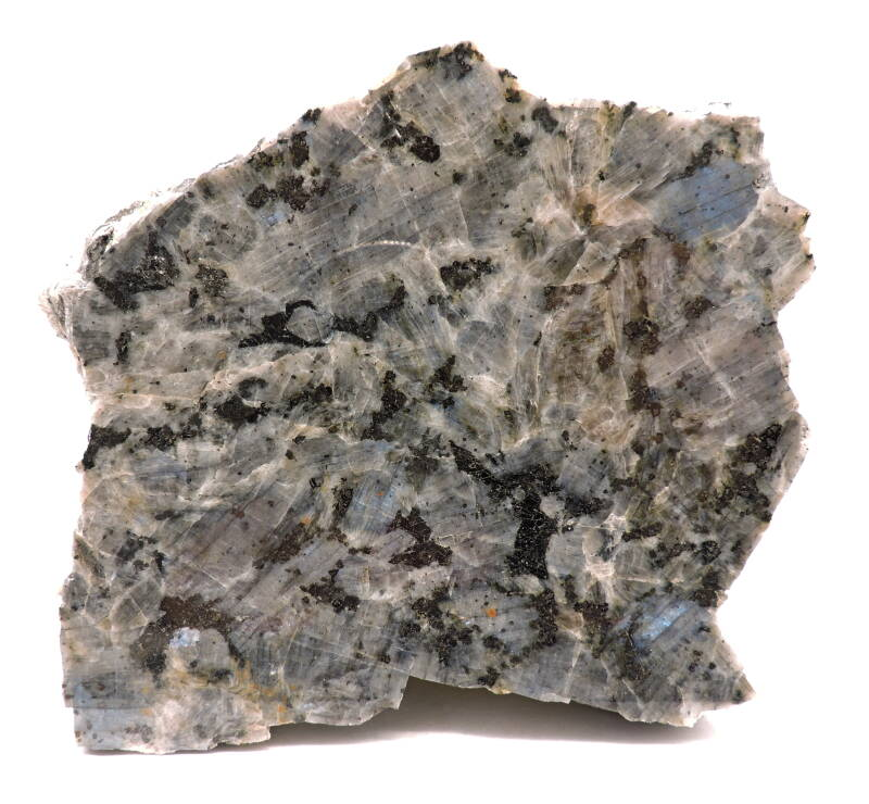 Anorthite var. spectrolite from Finland - large cabinet size