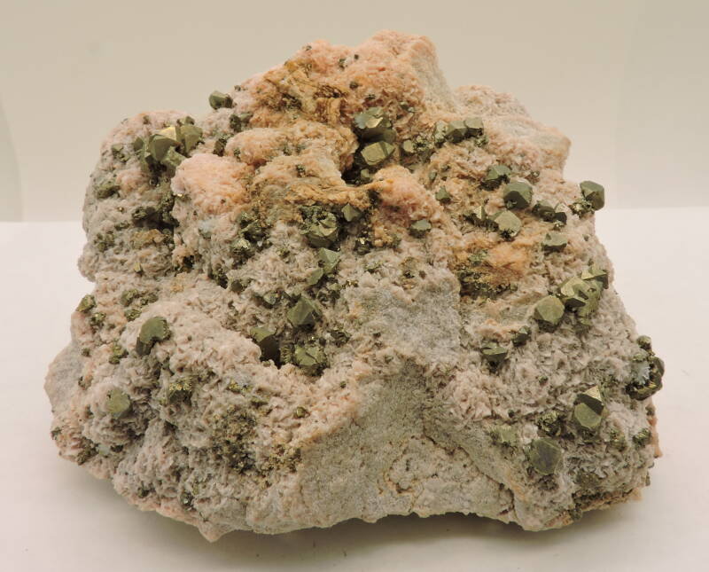 Rhodochrosite and pyrite from Peru  - old find- cabinet size