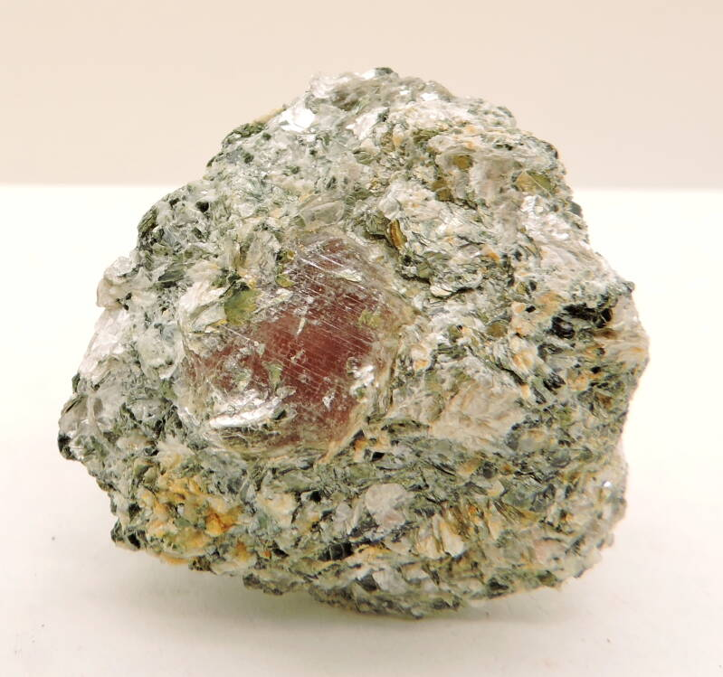 Corundum var. ruby in mica schist from Norway - thumbnail
