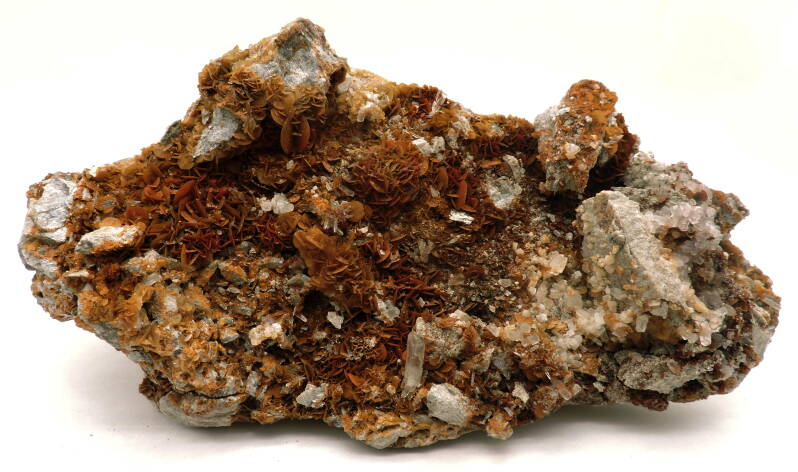 Siderite, quartz and selenite from Italy - large cabinet size