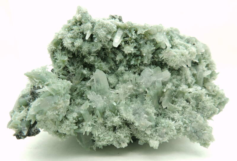 Green quartz with sphalerite and chalcopyrite from Bulgaria- cabinet size