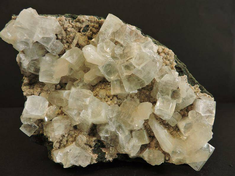 Apophyllite crystals from India - large cabinet size