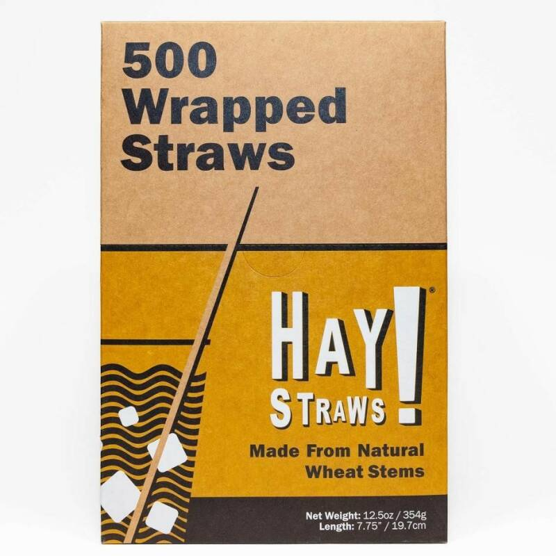 Wrapped long drink Haystraws 500