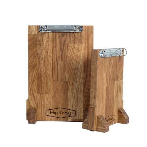 Your Logo On The Oak Menu Card Stand