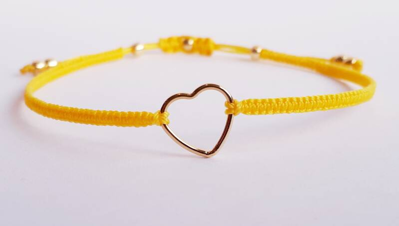 Gold Filled Heart yellow