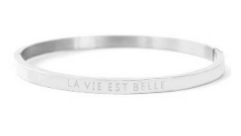"Bangle ""La Vie Est Belle"" Silver"