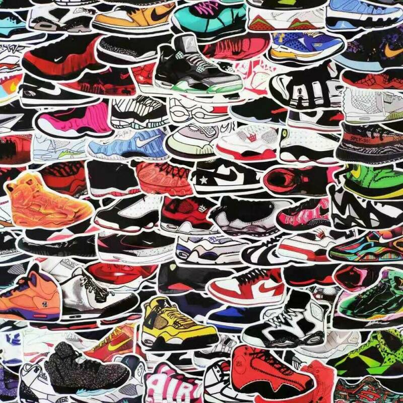 Sneaker stickers 100 pack