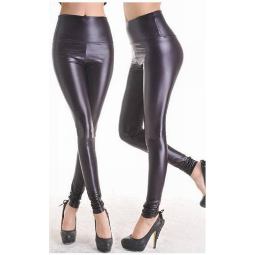 Zwarte wetlook Legging.  Artikelnummer: 03189090000