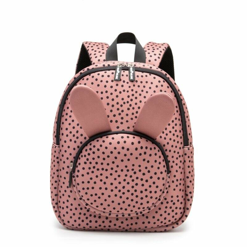 Backpack Bunny WarmPink Dots