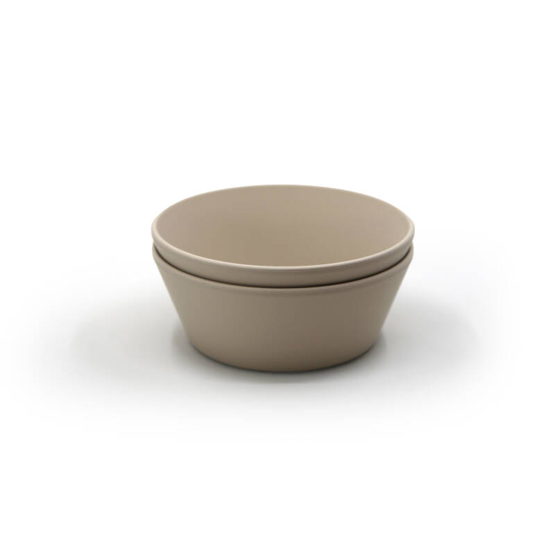 Mushie Dinnerware || Bowl Vanilla 2pack