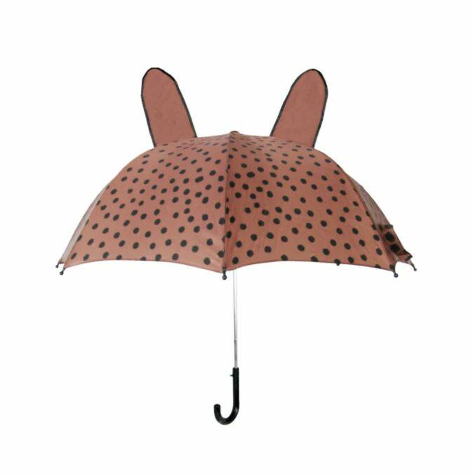 Umbrella BrownPink Dots