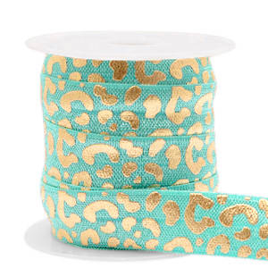 lint leopard Turquoise-gold