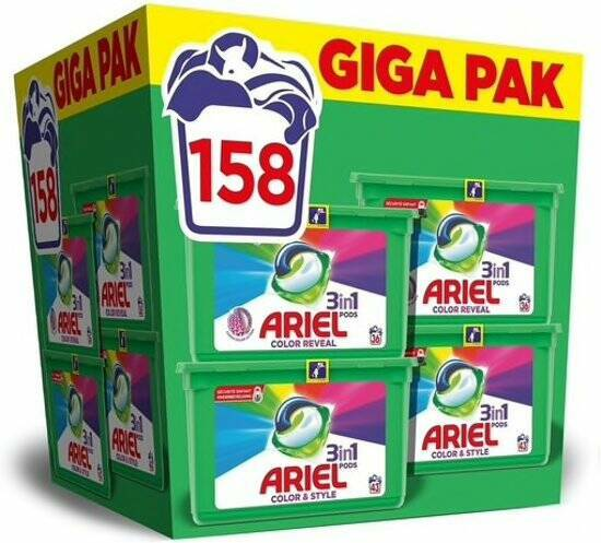 Ariel 3-in-1 Pods Giga Pack - 158 Pods