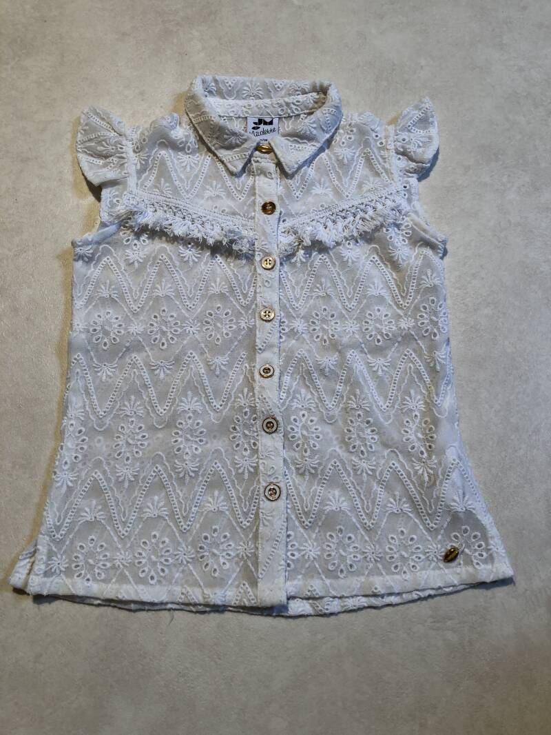 Nicolette wit kant blouse maat 110/116