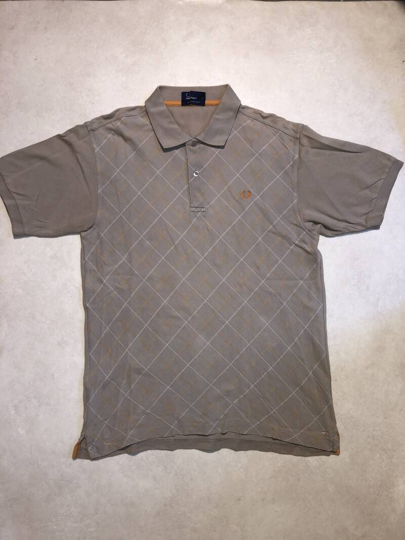 Fred Perry lichtbruin print polo maat L