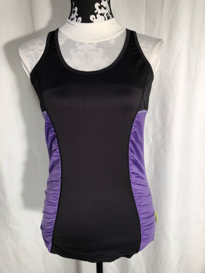 Pure lime  zwart/paarse sporttop maat 38