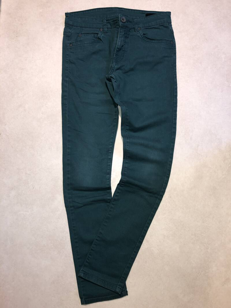 Outfitters nation groene denim jeans maat 28