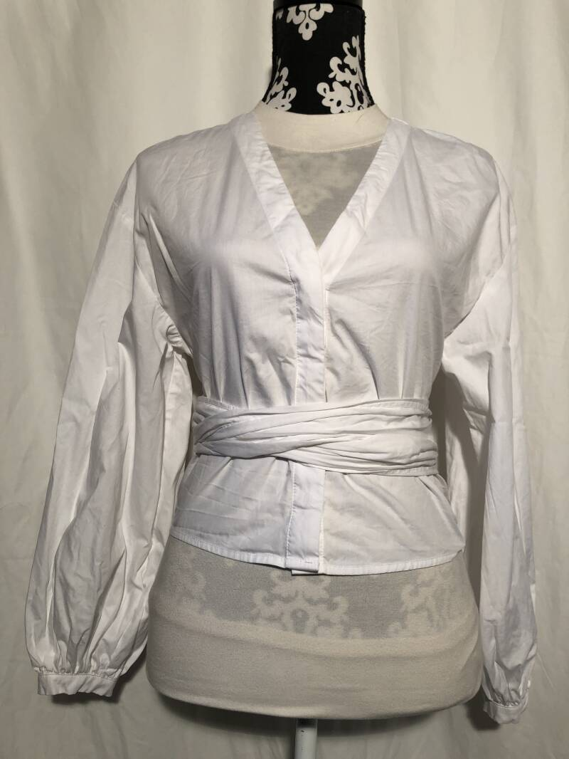 H&M witte wikkelblouse maat 38