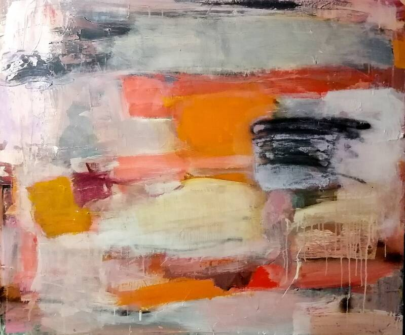 Abstract painting 100x120 cm (sold)