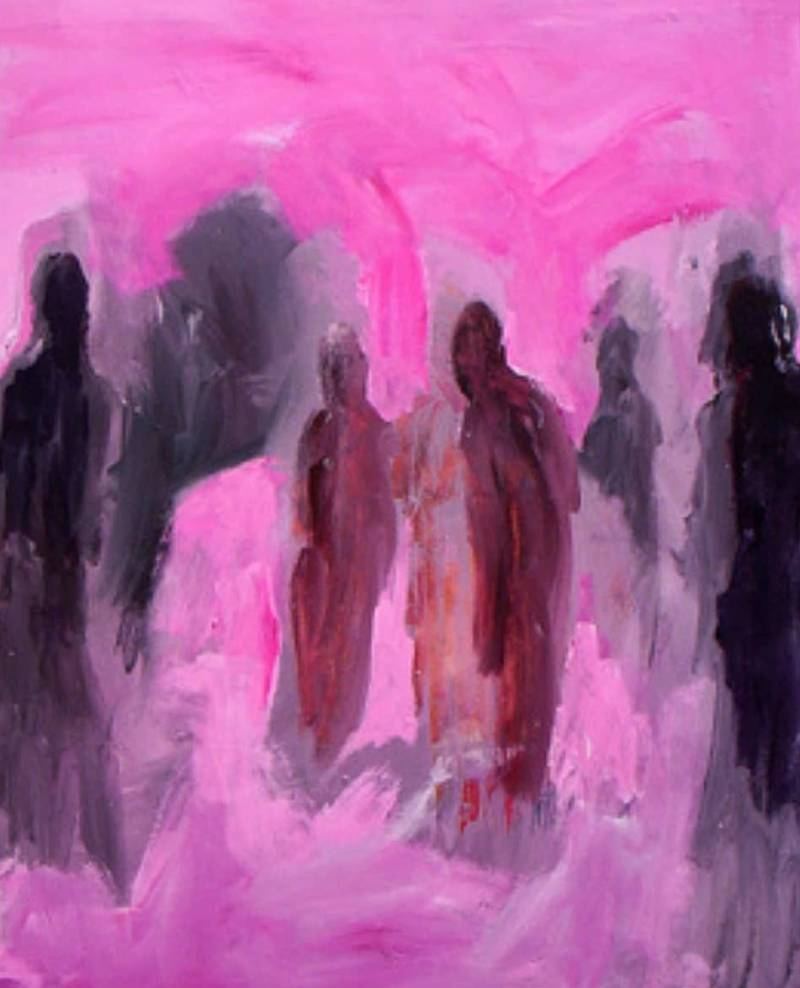 Abstract figurative painting  120x90 cm (SOLD)