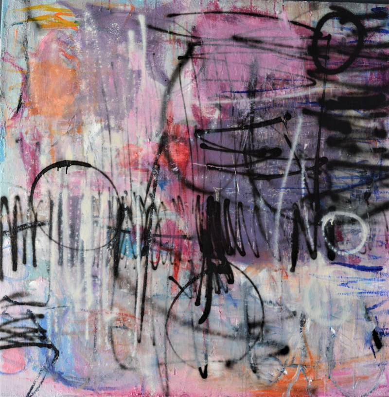 Abstract painting 100 x 100 cm