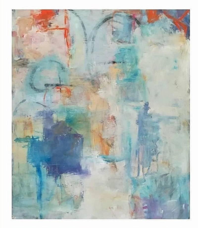 Abstract painting 100x 120 cm