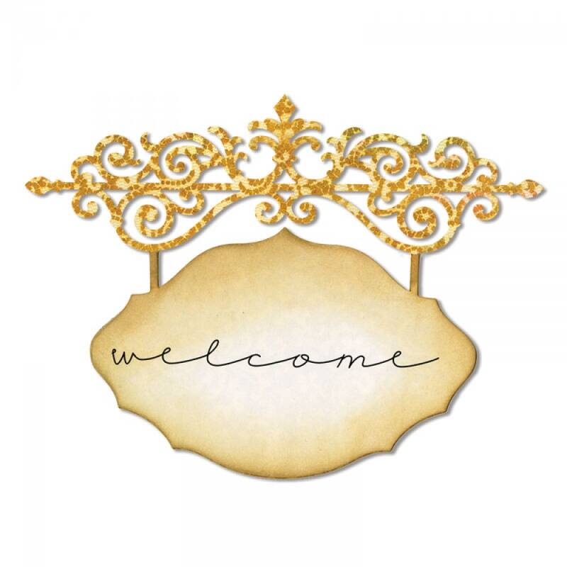 Sizzix-Thinlits Die-Ornate Hanging Sign
