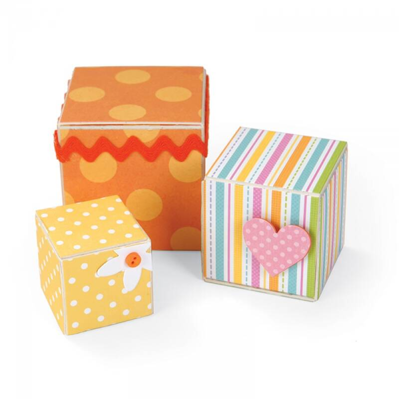 Sizzix - XL Die - Blocks/Cubes, 3-D