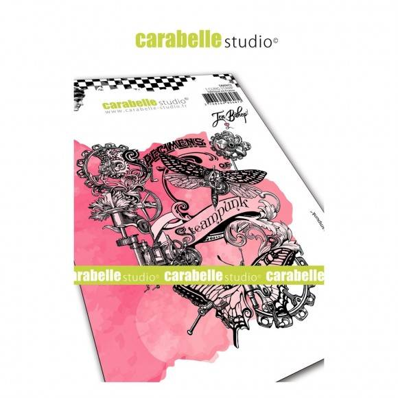 Carabelle Studio-A6 Stamp-Collage steampunk