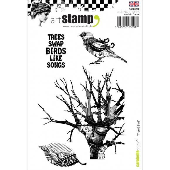 Carabelle Studio - A6 Stamp - Tree and bird