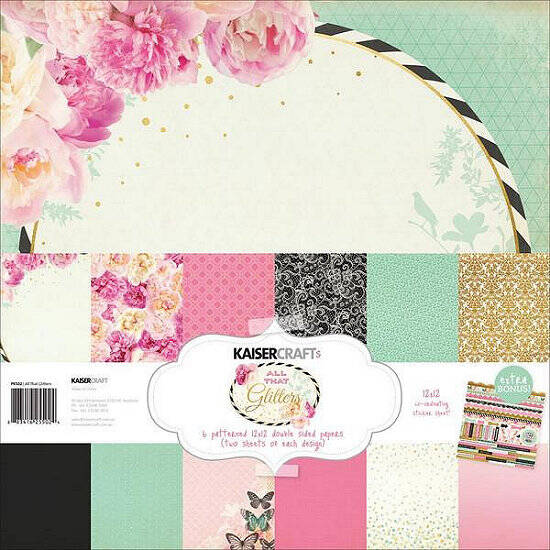 "Kaisercraft - All That Glitters Collection - 12"" x 12"" - Paper Pack"