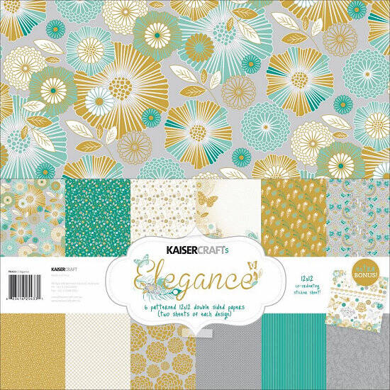 Kaisercraft-Elegance Collection-12x12 Paper Pack