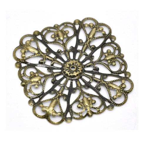 Embellishment - Metal ornament - Filigraan - Vierkant 02