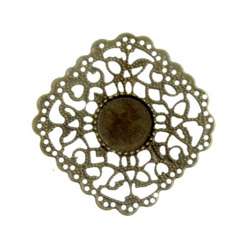 Embellishment-Metal ornament-filigraan-vierkant 03