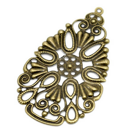 Embellishment - Metal ornament - Filigraan 02