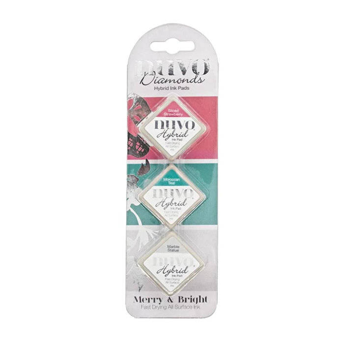 Nuvo-Diamond hybrid ink pads-Merry & Bright