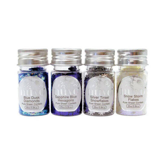 Nuvo-Pure Sheen-Confetti-4 Pack-Let It Snow