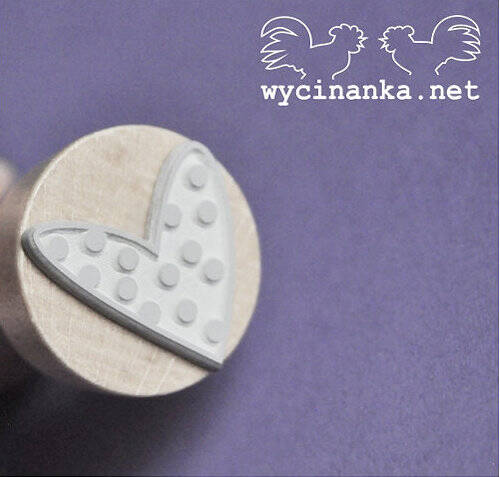 Wycinanka-Rubber stamp with Handle-Heart 2