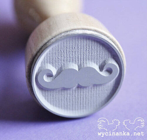 Wycinanka - stamp - MAN'S WORLD - Mustache
