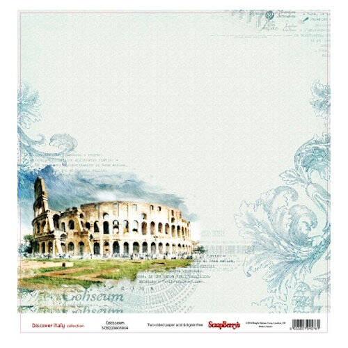 "Scrapberry's - paper 12""- Discover Italy - Colosseum"