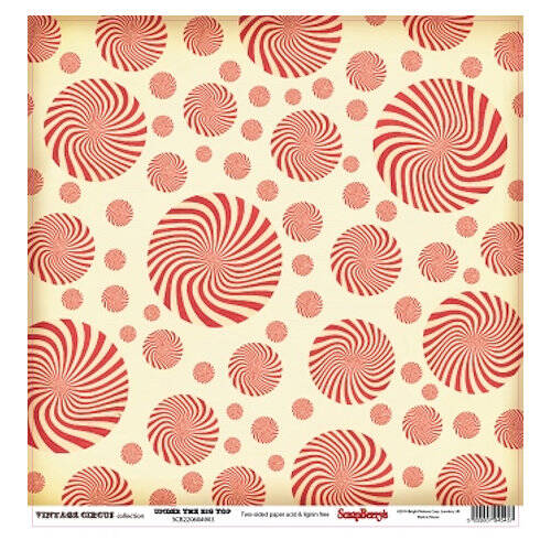 "Scrapberry's - paper 12""- Vintage Circus-Under the Big Top"
